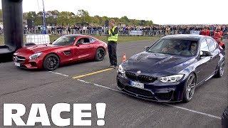 BMW M3 F80 Manhart vs Mercedes-AMG GT S