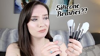 Trying Silicone Makeup Brushes! HIT OR MISS?