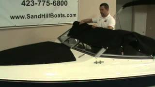 How to install the mooring cover on a StingRay Boat