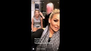 WWE's Natalya gets her makeup done with Alexa Bliss!