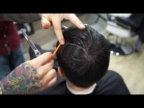Gentleman Haircut Classic Side Part | мужская стрижка photo