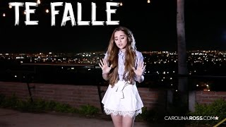 Te fallé - Christian Nodal (Carolina Ross cover)