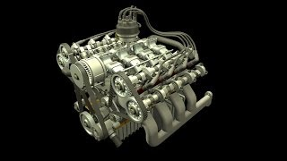 S4, S6, V6, V8 & V12 Engine Animation