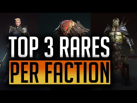RAID: Shadow Legends | Top rares per faction | Help conquer faction wars and get those glyphs!