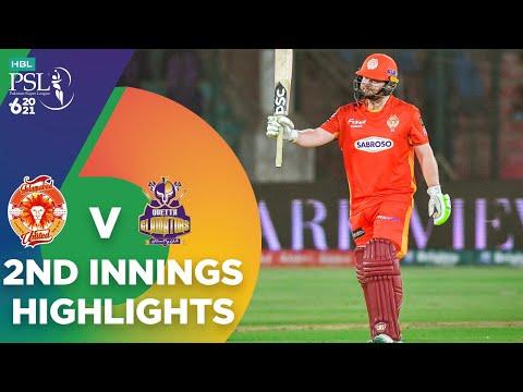 2nd Innings Highlights | Islamabad United vs Quetta Gladiators | Match 12 | HBL PSL 6 | MG2T