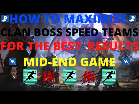 Mid-End Game Clan Boss Speed Team Guide I Raid Shadow Legends