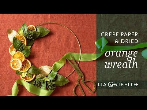 Beautiful DIY Dried Orange Wreath