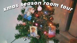 kpop room tour | army edition (+ christmas decor) ✧*:・゚