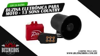 Som da Buzina Eletrônica para Moto - 13 Sons Country