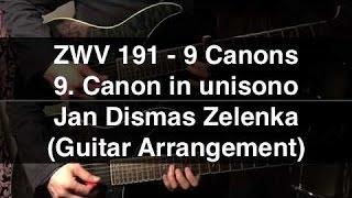 ZWV 191 - 9. Canon in unisono (Zelenka) - 2 Guitars