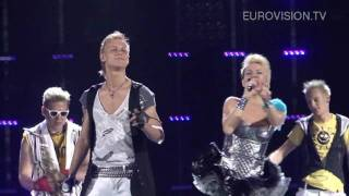 Sunstroke Project & Olia Tira's second rehearsal (impression) at the 2010 Eurovision Song Contest
