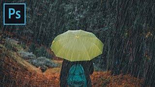 Rain Effect - Photoshop CC Tutorial