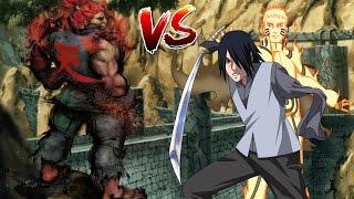 Akuma vs Naruto and Sasuke Mugen Epic Fight