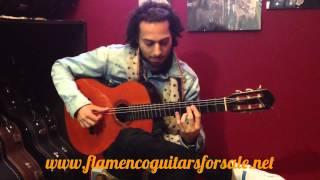 Joni Jiménez plays the Vda. y Sobrinos de Domingo Esteso 1945 flamenco guitar for sale