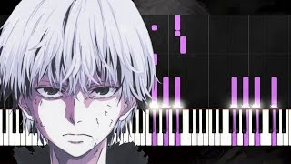 Tokyo Ghoul √A Ending | Piano Tutorial - Synthesia + English Lyrics