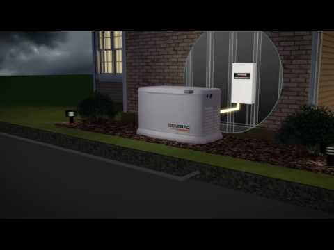 Generac Guardian Series Air-Cooled Standby Generator - 16 kW (LP)/16 kW (NG), 100 Amp Transfer Switc