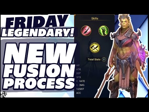 FRIDAY LEGENDARY FUSION FULL SKILLS NEW FUSION PROCESS RAID SHADOW LEGENDS
