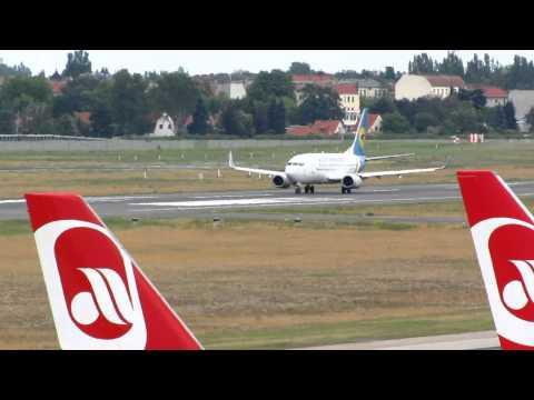 Boeing 737-500 Ukraine International Take Off from TXL