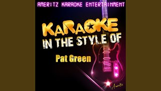 Don't Break My Heart Again (In the Style of Pat Green) (Karaoke Version)