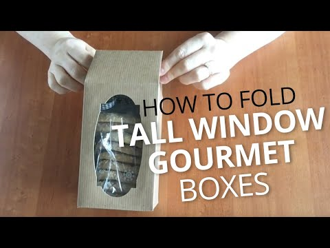 How to Fold Tall Gourmet Window Boxes