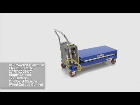 DC Powered Hydraulic Elevating Carts CART-2000-DC