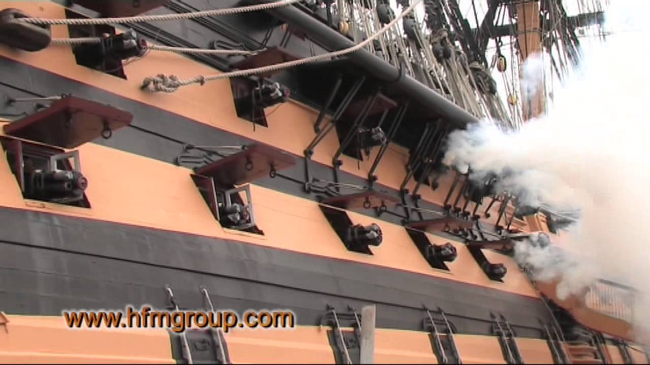 HMS Victory Broadside Cannonade
