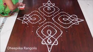 Sikku Kolam Design With 8 2 2 Dots Ii Beautifull Melikala Muggu