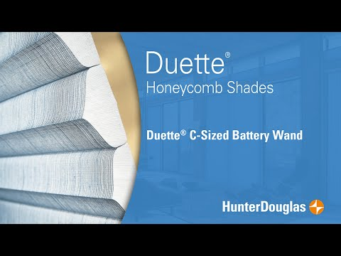 Duette® Honeycomb Shades - C-Sized Battery Wand - Hunter Douglas