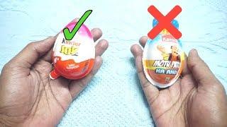 KINDER JOY  vs Motu Patlu Egg width=