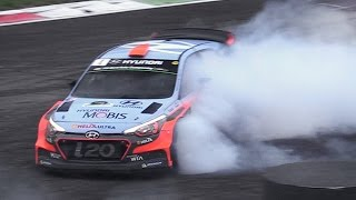 Rally Cars Doing Donuts  Burnouts at Monza Rally Show 2016!