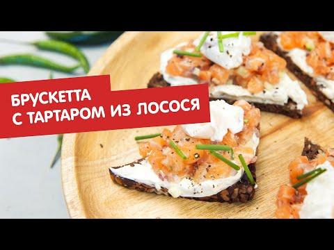 Брускетта с тартаром из лосося | Дежурный по кухне