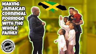 MAKING JAMAICAN CORNMEAL PORRIDGE WITH THE WHOLE FAMILY