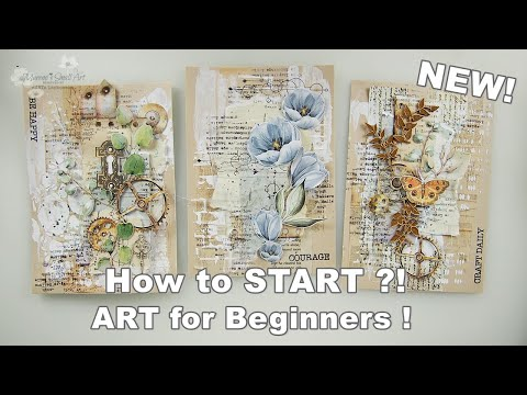 2020 NEW! How to Break A Blank Vintage Page for Beginners #13 ♡ Maremi's Small Art ♡