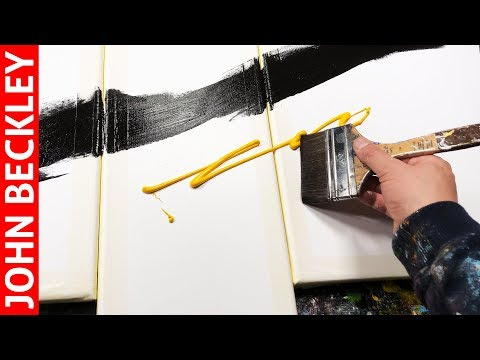 Abstract Painting Demonstration Acrylics With Water | Surfer Rosa