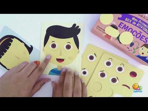 Montessori Meu Primeiro Box de Atividades Emoções Escolinha Editora Todolivro