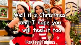 Victorious - It's not Christmas Without You + Lyrics