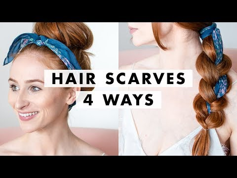 4 Ways to Wear Hair Scarves (Easy Hairstyles)