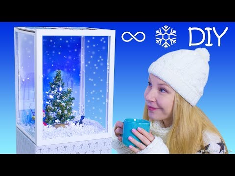 DIY Giant Mechanical Snow Globe (Snow Cube) – How To Make A Snow Globe With Continual Snowfall