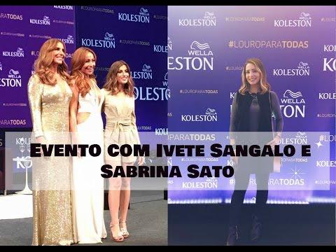 Evento Koleston com Ivete Sangalo e Sabrina Sato