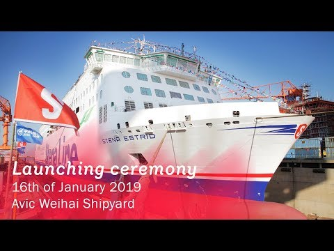 Launching ceremony of Stena Estrid