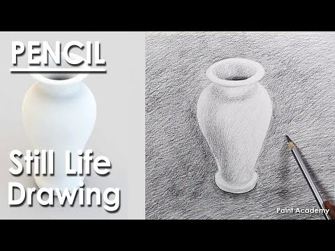 Learn How to Draw A Vase : Still Life Drawing in Pencil | step by step shading methods