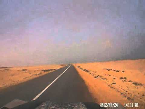 Dash cam video of Dakhla (Morocco) to near Mauritania border – part 2