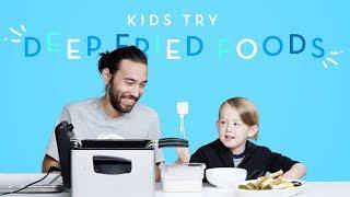 Kids Try Deep Fried Foods   Kids Try   HiHo Kids