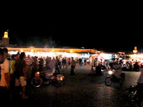 Djemaa el-Fna square at night @ Marrakech, Morocco