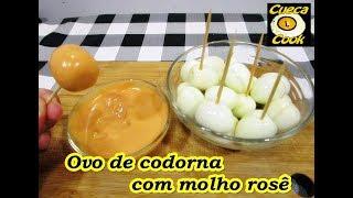 Como descascar ovo de codorna + molho rosê - Cueca Cook # 214