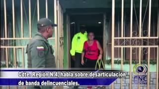 Cdte  Región N 4, habla sobre desarticulación de banda delincuenciales