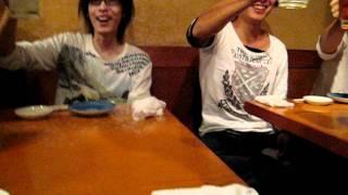 2011年10月7日(金)ソロ発表会後、焼肉屋にて