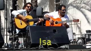 Josemi Carmona y Paquete en una prueba de sonido