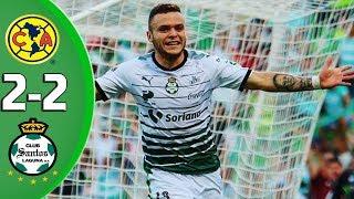 Resumen America vs Santos 2-2 Semifinal VUELTA Liguilla Clausura 2018