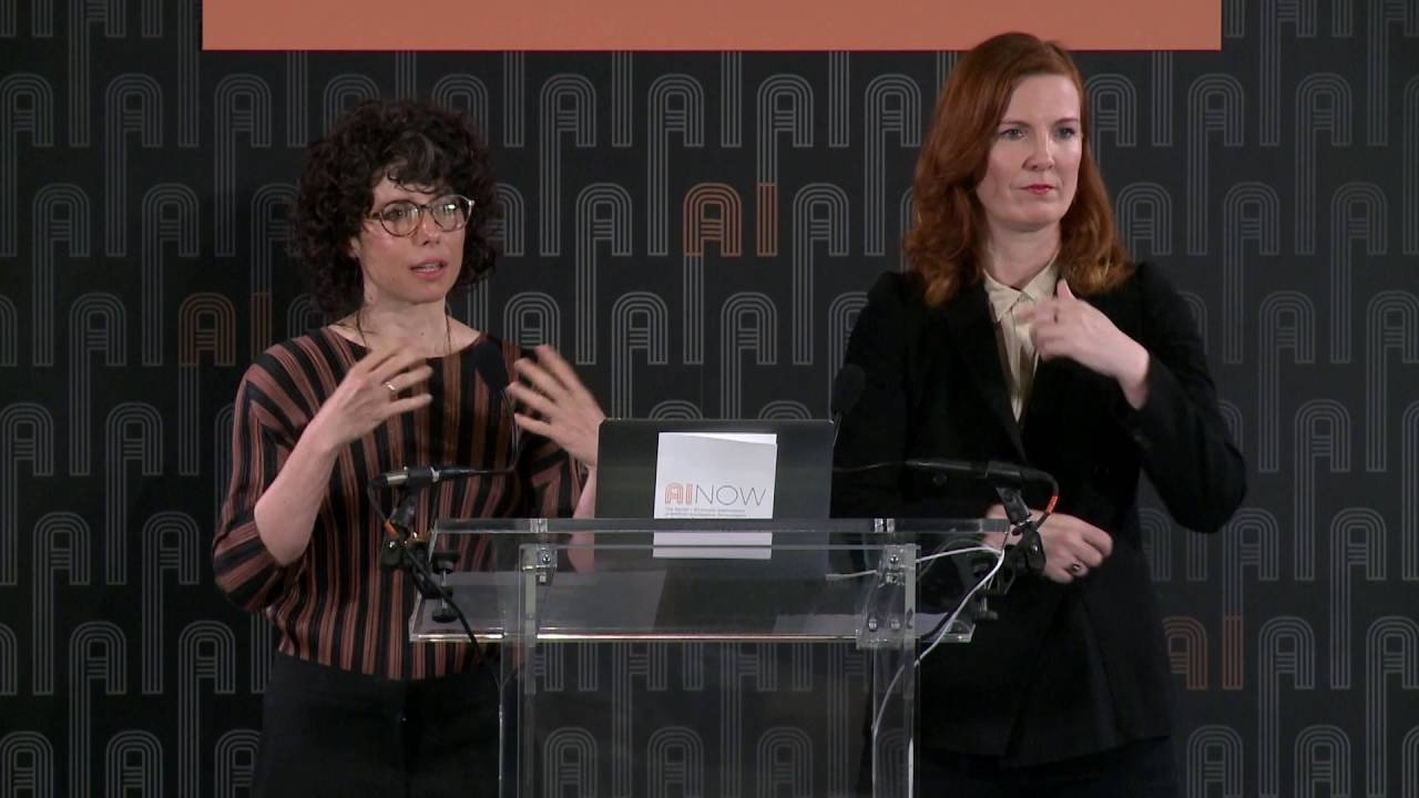 Speakers at the 2016 AI Now Symposium